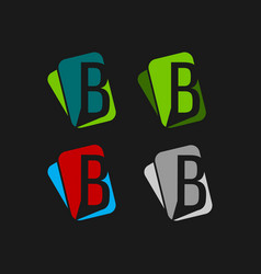 set letter b logo icons design template vector image