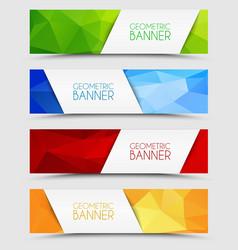 Set of geometric polygonal banners vector image