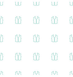 Sleeveless shirt icon pattern seamless white vector