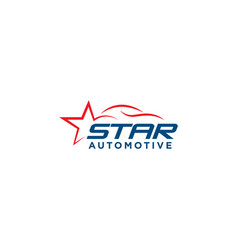 Star automotive car logo design template vector