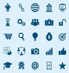Start up color icons on blue background vector