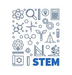 stem concept outline blue vector image