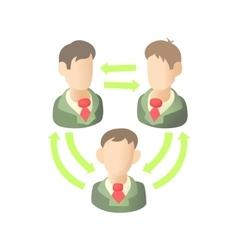 Teamwork icon in cartoon style vector image
