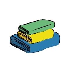 Textile fabrics cloth vector
