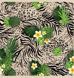 texture animal pattern vector image