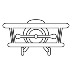 toy airplane icon vector image