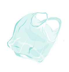 transparent plastic bag flying in air vector image