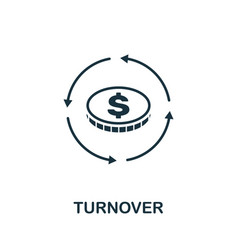 Turnover icon outline style thin line creative vector