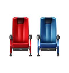 Two cinema seats vector