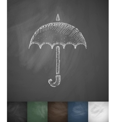 Umbrella icon hand drawn vector