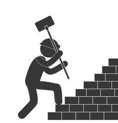 Under construction related pictogram image vector