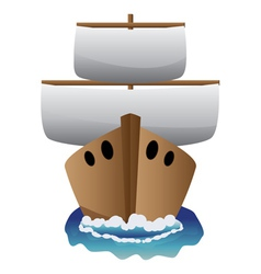 Abstract cartoon boat vector image vector image