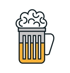 Cold and delicious beer glass vector image