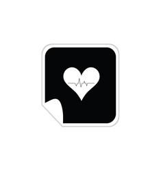 heartbeat sticker vector image vector image