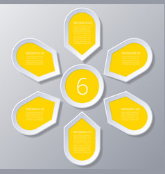 infographic yellow points arranged in sun circle vector image