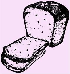 slices bread vector image