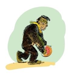 The evolution of men monkey vector image
