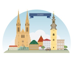 Zagreb vector image vector image