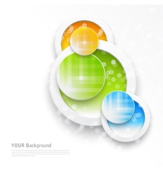 Beautiful color grunge design elements circle vector image vector image