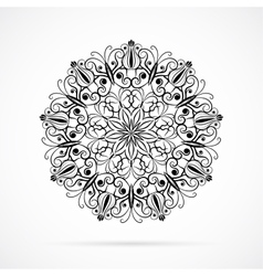 Black Color Mandala over white vector image