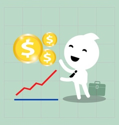 business investment growth vector image