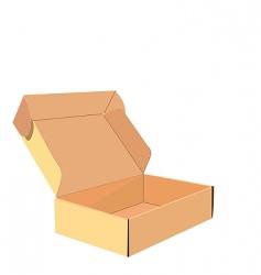 cardboard box vector image vector image