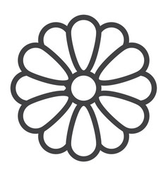 flower line icon web and mobile wallpaper sign vector image vector image