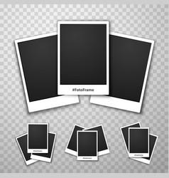 foto frame collage on a transparent background vector image vector image