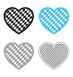 oktoberfest heart icon in cartoon style isolated vector image vector image