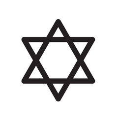 Star of david icon on white background star of vector