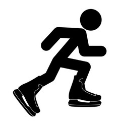 athlete skater in skating icon black color flat vector image vector image