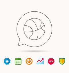 Basketball icon sport ball sign vector