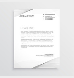 Elegant gray letterhead design vector