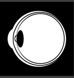 eyeball white color icon vector image vector image