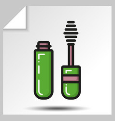 icons of beauty cosmetics 10 vector image vector image