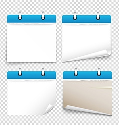 Paper diary on transparent background collection vector image