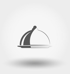 serving dish with a lid icon vector image vector image