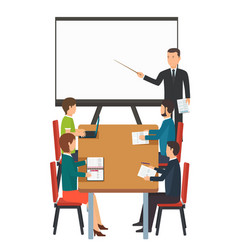 Business presentation for group of people vector