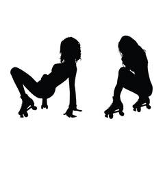 girl hot silhouette vector image vector image