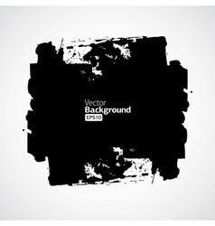 Ink splat banner with grunge effect in black vector image