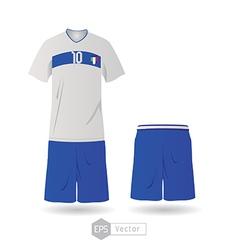 Italy team uniform 01 vector image vector image
