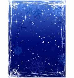 vertical blue grunge winter background vector image vector image