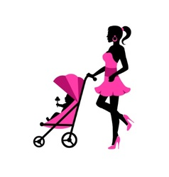 Walk with your child vector image vector image
