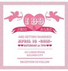 Wedding Angel Invitation Card vector image