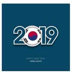 2019 korea south typography happy new year vector