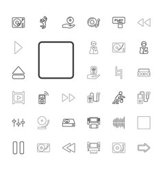 33 player icons vector