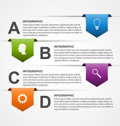 Abstract infographics design template vector