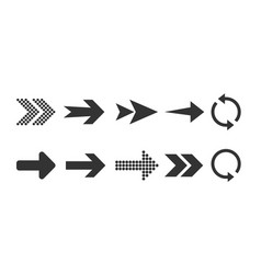 Arrow icon set flat design vector