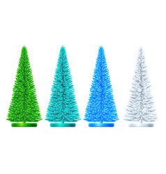artificial christmas tree set vector image