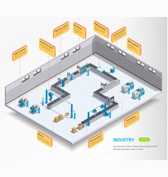 Assembly line industrial background vector